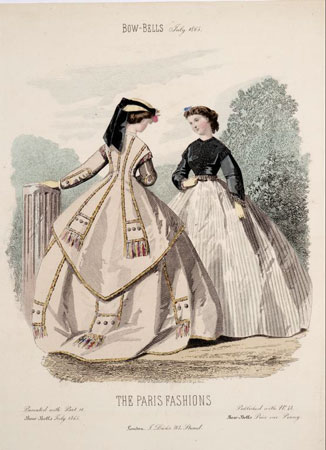 Postcard of Fashion plate, from Bow-Bells.