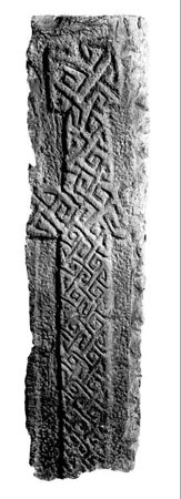 Postcard of Cross slab.