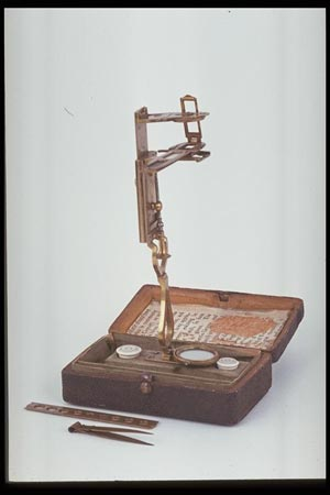 Postcard of Microscope.