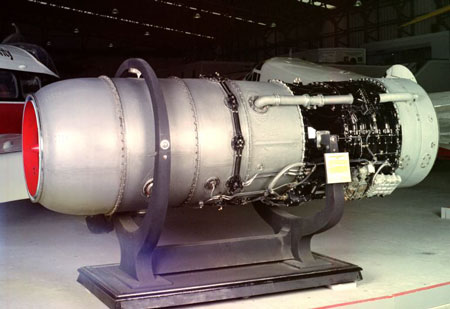 Postcard of Aeroplane engine.