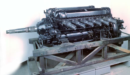 Postcard of Aeroplane engine, used in Avro Shackleton aeroplane.