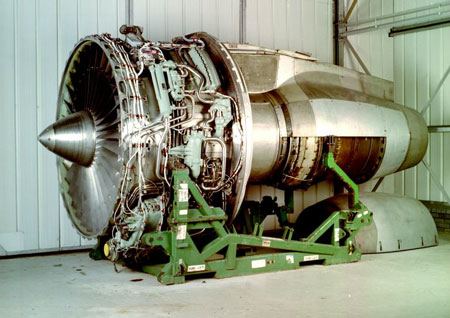 Postcard of Aeroplane engine, destined for use in Lockheed Tristar.