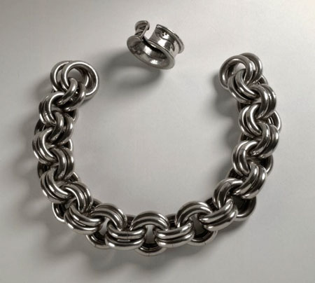 Postcard of Pictish chain of silver.