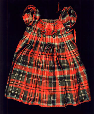 Postcard of Tartan dress for a small boy.