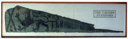 Postcard of Ceremonial standard, associated with the Douglas of Cavers Family.