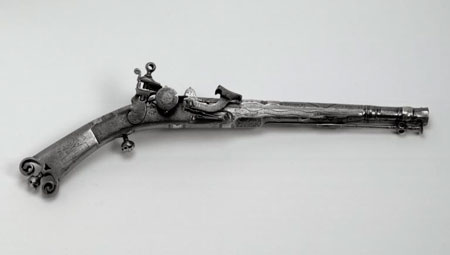 Postcard of Pistol, made in 1678.