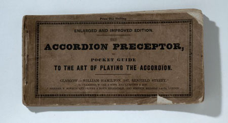 Postcard of Booklet, 'The Accordion Perceptor'.