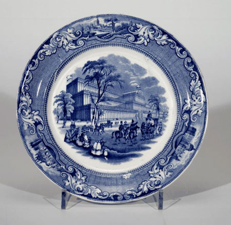 Postcard of Plate, commemorating 1851 Great Exhibition.