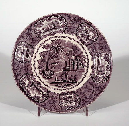 Postcard of Earthenware soup plate.