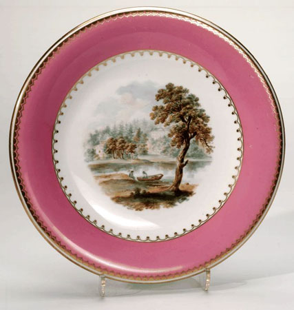 Postcard of Porcelain cake stand or comport.