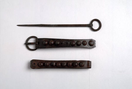 Postcard of Pin, buckle and strap end.