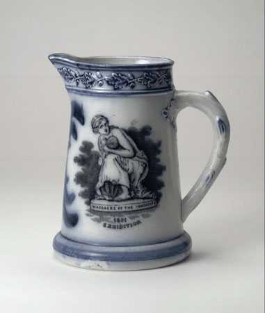 Postcard of Earthenware jug from the Great Exhibition.