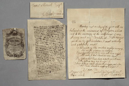 Postcard of Letter written by Robert Burns.