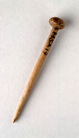 Postcard of Bone pin.
