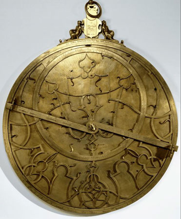 Postcard of Astrolabe (electrotype), thought to have been owned by Philip II of Spain.