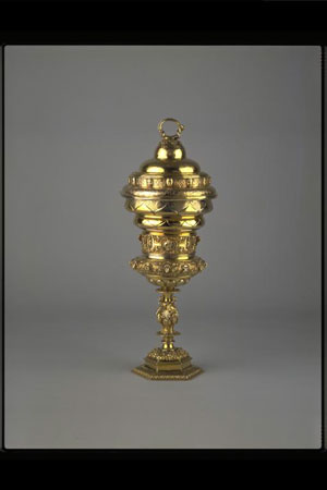 Postcard of Gold cup associated with Mary, Queen of Scots.