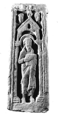 Postcard of Part of a stone cross.