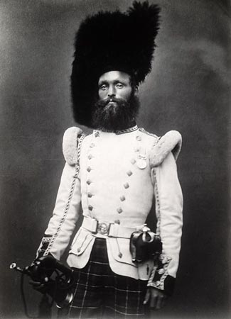 Postcard of Bandsman of the 72nd Regiment of Foot.