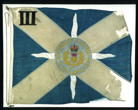 Postcard of Flag, of `C` Company, 1st Battalion Royal Highland Fusiliers.