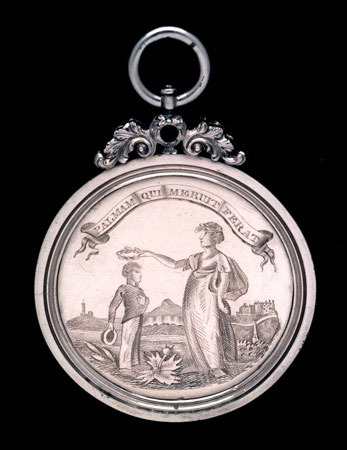 Postcard of Medal (obverse), for military exercises.