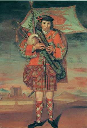 Postcard of Piper to the Laird of Grant.