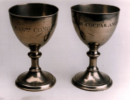 Postcard of Communion cups.