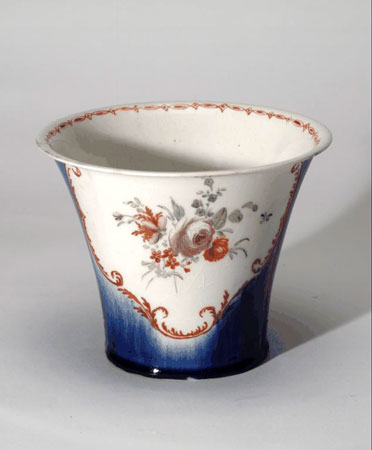 Postcard of Porcelain plant pot.