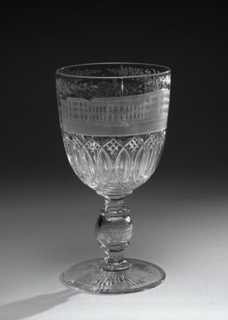 Postcard of Goblet, associated with Royal Museum of Scotland, Edinburgh.