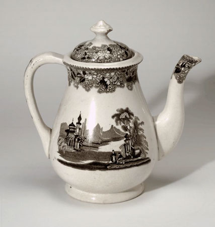 Postcard of Coffee pot.