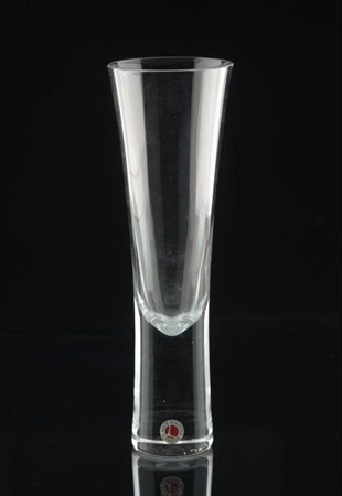 Postcard of Champagne glass.