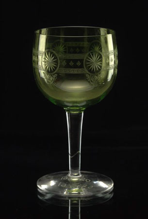 Postcard of Wine glass.