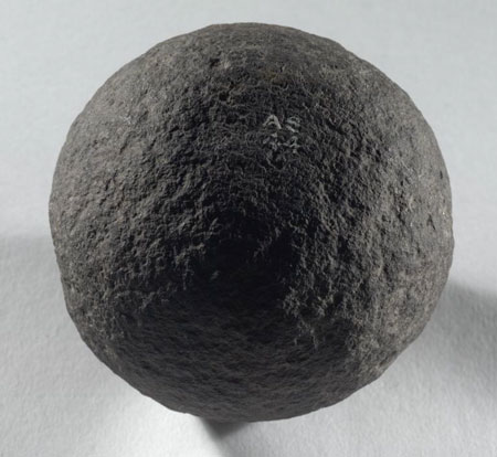 Postcard of Stone ball.