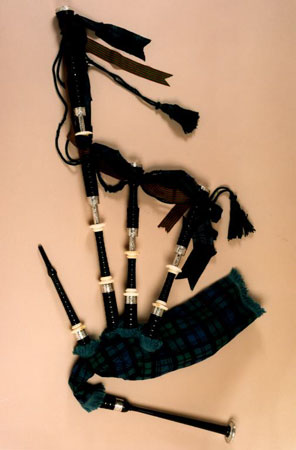 Postcard of Bagpipes, of Argyll and Sutherland Highlanders, 12th Battalion.